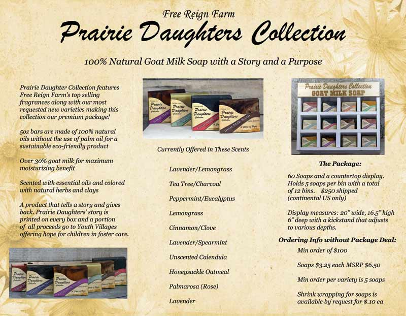 Prairie Daughters Wholesale Goat Milk Soap